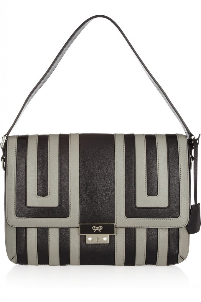 Anya Hindmarch leather 'Ebenezer' shoulder bag