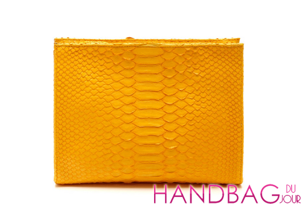 Hunting Season Sun Yellow Python Cosmetic Clutch