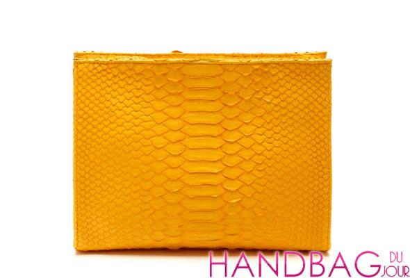 Hunting Season Sun Yellow Python Cosmetic Clutch