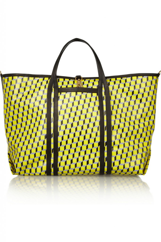 Pierre Hardy Cube-print coated-canvas shopper