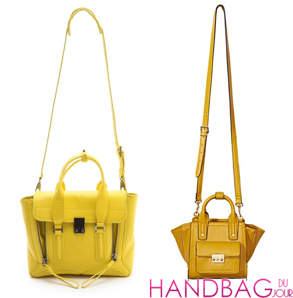 Bag the look for less: 3.1 Phillip Lim Pashli Satchel vs. 3.1 Phillip Lim for Target in Electric Yellow