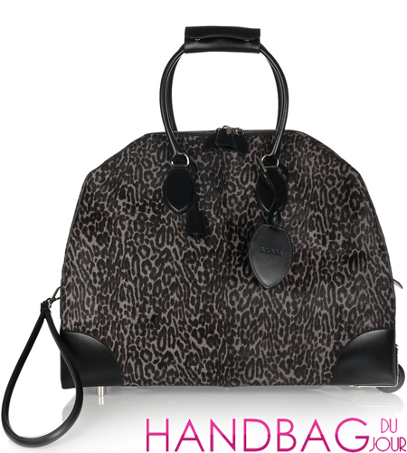 Alaïa Animal print calf-hair travel bag