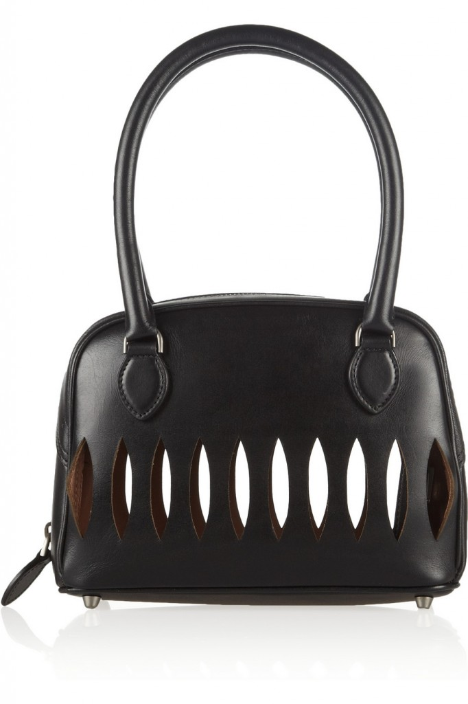 Alaia Laser-cut mini leather tote