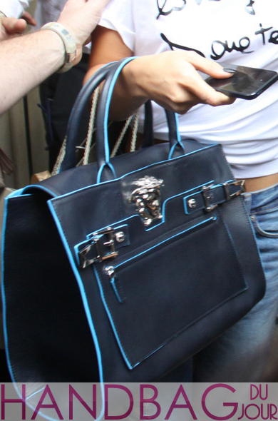 Selena Gomez rocks the new Versace Palazzo bag