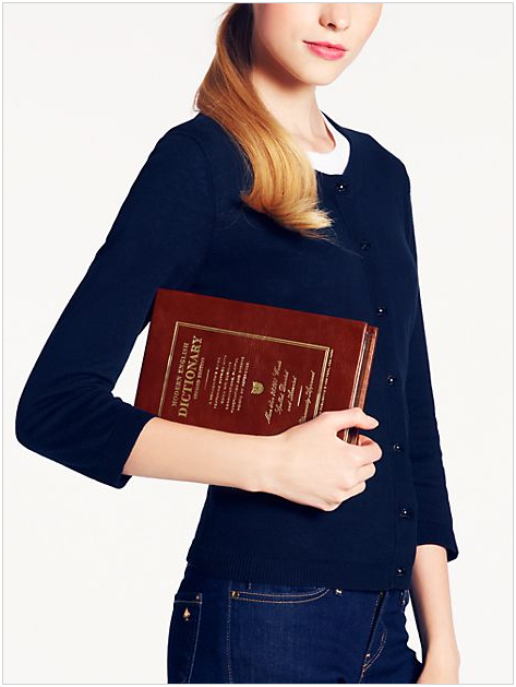 kate spade new york 'wordsmith dictionary' clutch