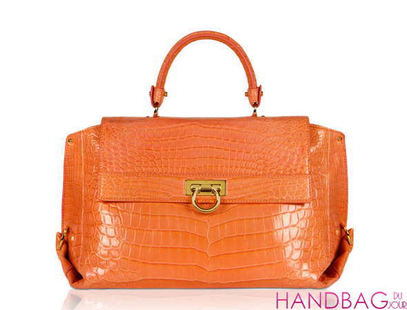 Salvatore Ferragamo Large Sofia In Coral Pink