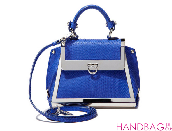 Salvatore Ferragamo Mini Sofia In Bright Blue