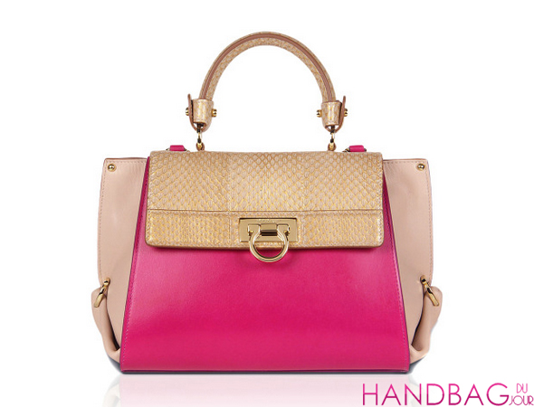 Salvatore Ferragamo Small Sofia In Deep Fuchsia