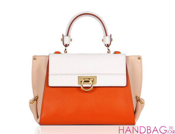 Salvatore Ferragamo Small Sofia In Deep Orange