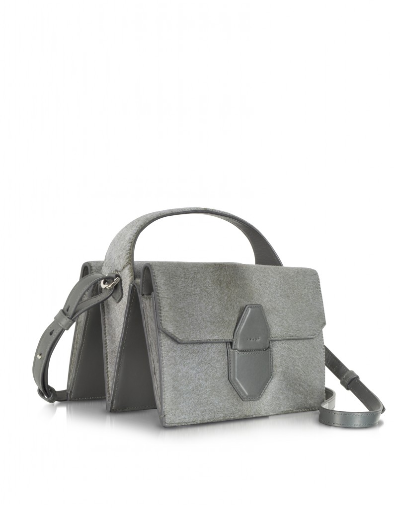 Alexander Wang Racketeer Sling Geyser Haircalf Shoulder Bag