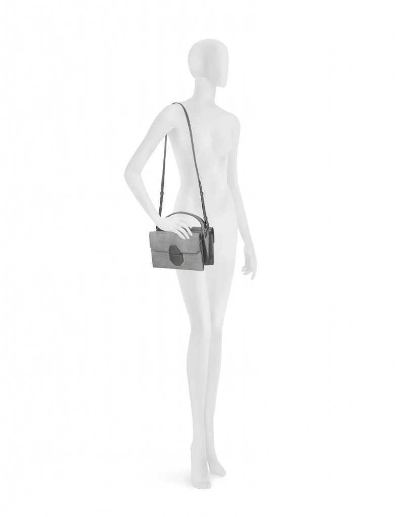 Alexander Wang Racketeer Sling Geyser Haircalf Shoulder Bag on model