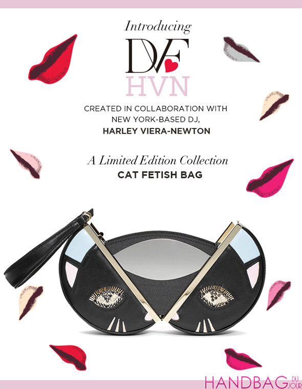 DVF loves Harley Viera-Newton Circle Fetish Cat Clutch