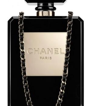Chanel No.5 Bottle Bag - black