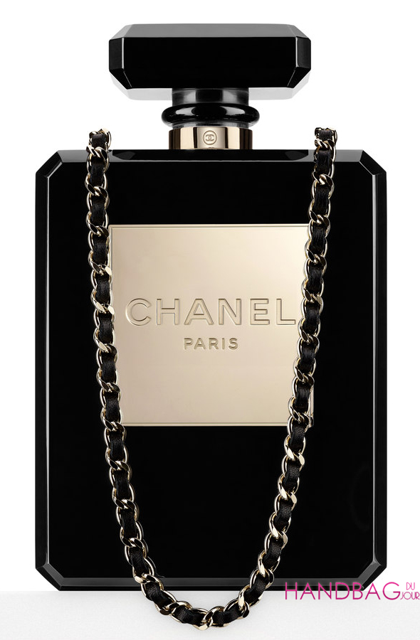 Chanel No 5 Bottle Bag Black