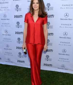 Marisa Tomei with Emm Kuo Bilbao minaudiere at Variety's Creative Impact Awards 2