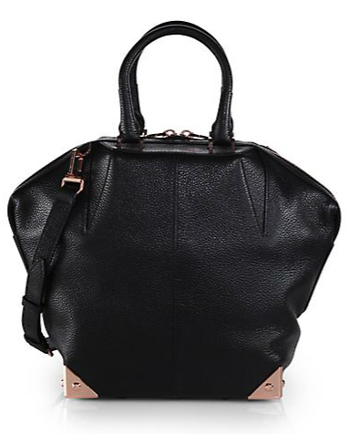 Alexander Wang Emile Small Pebbled Leather Tote - Black