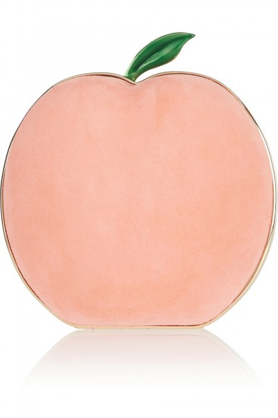 Haute find: Charlotte Olympia What A Peach suede clutch