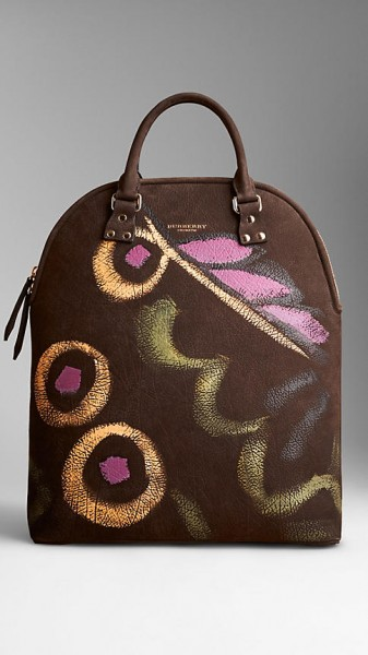 Burberry Bloomsbury Nubuck Hand-Painted Bag - brown