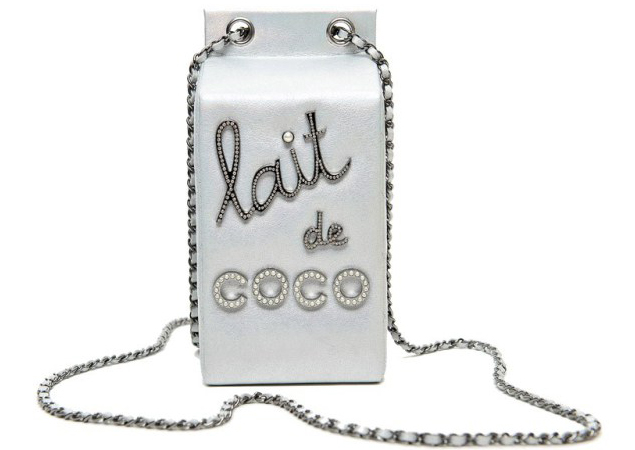 Chanel Lait de Coco clutch bag