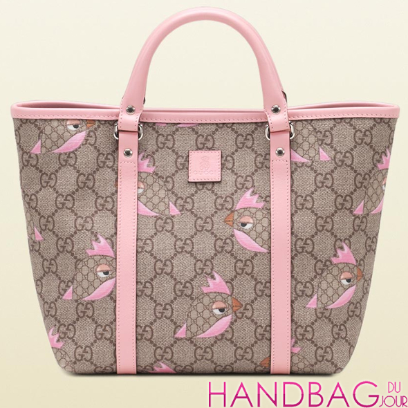 Gucci Girl's Canvas Zoo Print Tote as seen on Emme Muniz
