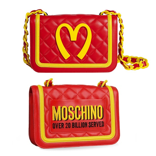Moschino 'Fast Food' Quilted Leather Shoulder Bag