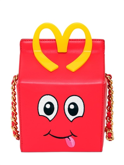 Moschino Happy Meal Leather Shoulder Bag