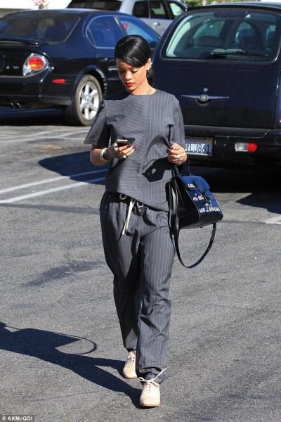 Rihanna with Ceci n'est pas un Delvaux bag