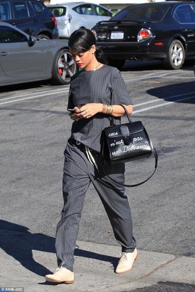 Rihanna rocks a VERY limited-edition Delvaux bag: Ceci n'est pas un Delvaux bag