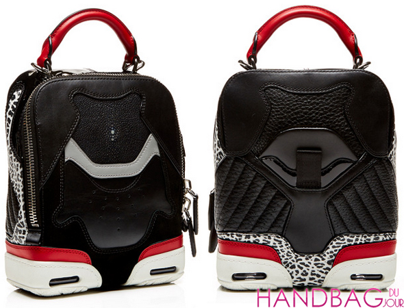 Alexander Wang Small Sneaker Bag In Black, Lacquer With Stingray