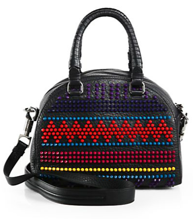 Christian Louboutin Multicolor Studded Bowler Bag