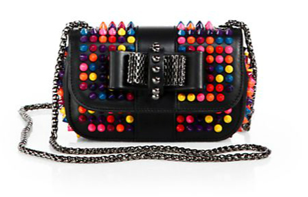 Christian Louboutin Sweet Charity Multicolor Stud Flap Bag