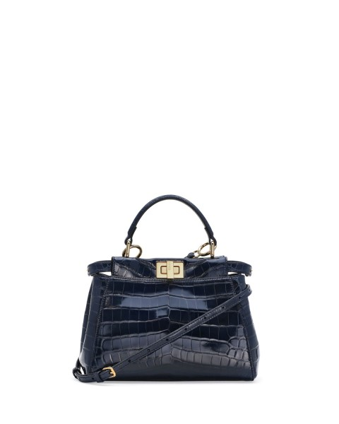 Fendi Peekaboo Alligator Mini Satchel Bag