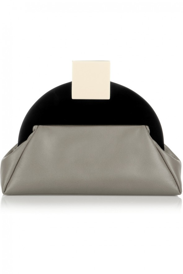 Haute Bag of the Week: MATTER MATTERS Deco leather and acrylic clutch