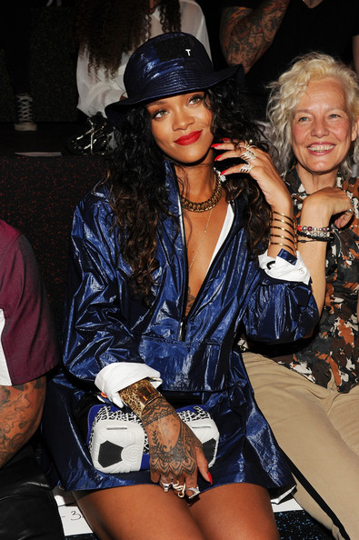 Rihanna at Alexander Wang with Sneaker bag