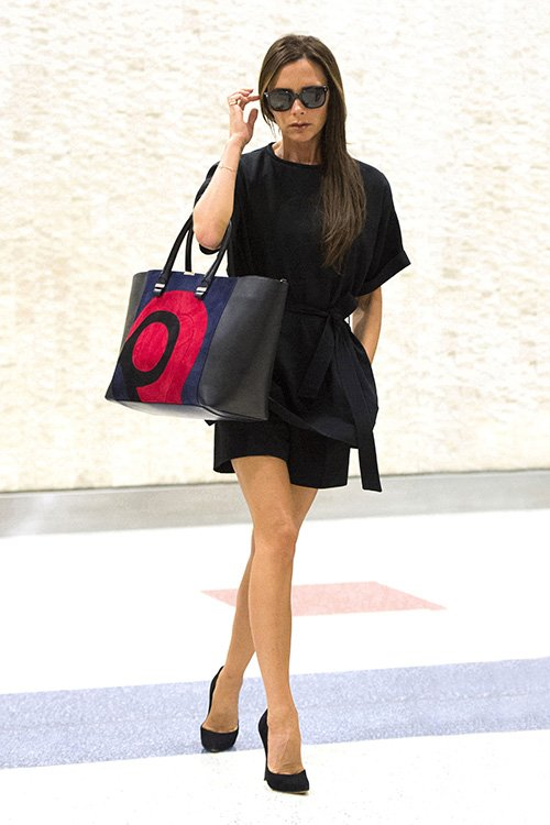 Victoria Beckham Spotted With Liberty Tote from Her Own Collection - Fall 2014