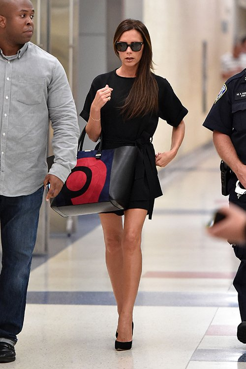 Victoria Beckham with Liberty Tote Bag - Fall 2014