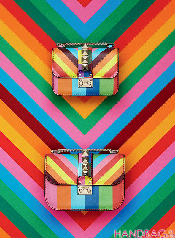 Valentino rainbow Rockstud Resort 2015 handbags