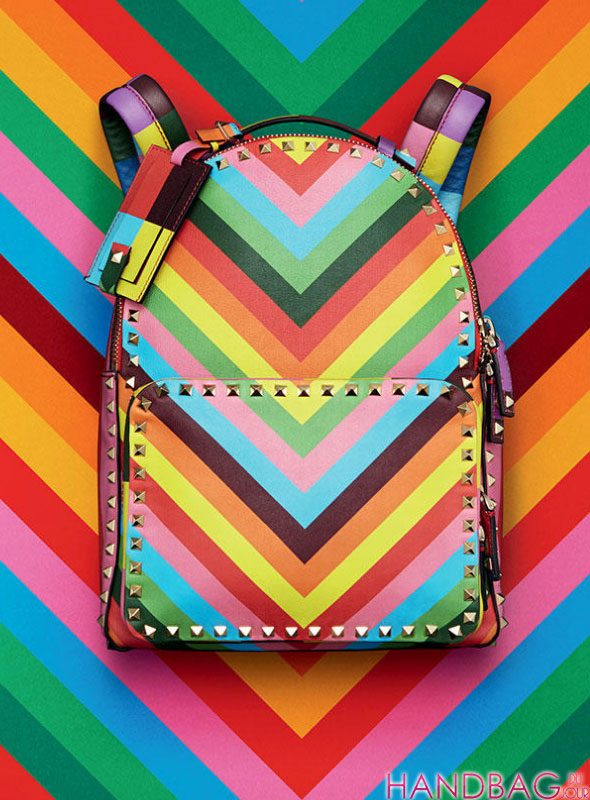 Valentino rainbow Rockstud Resort 2015 backpack