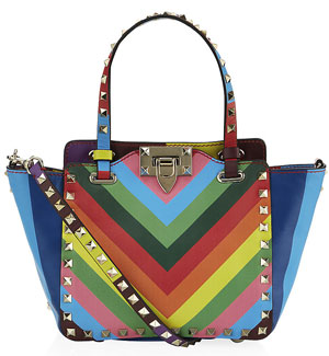 Valentino Mini Rainbow Rockstud 1973 Shopper