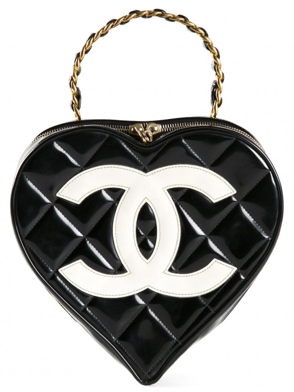CHANEL VINTAGE Heart Shaped Tote