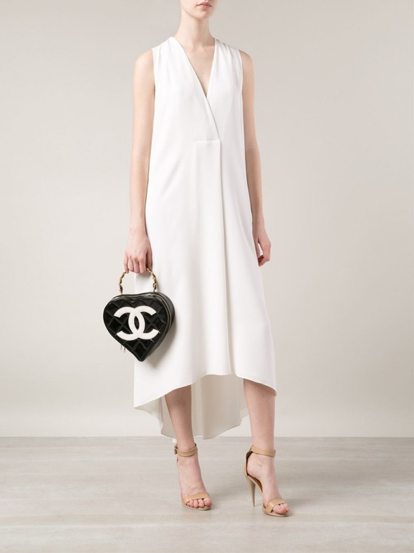 CHANEL VINTAGE Heart Shaped Tote on model