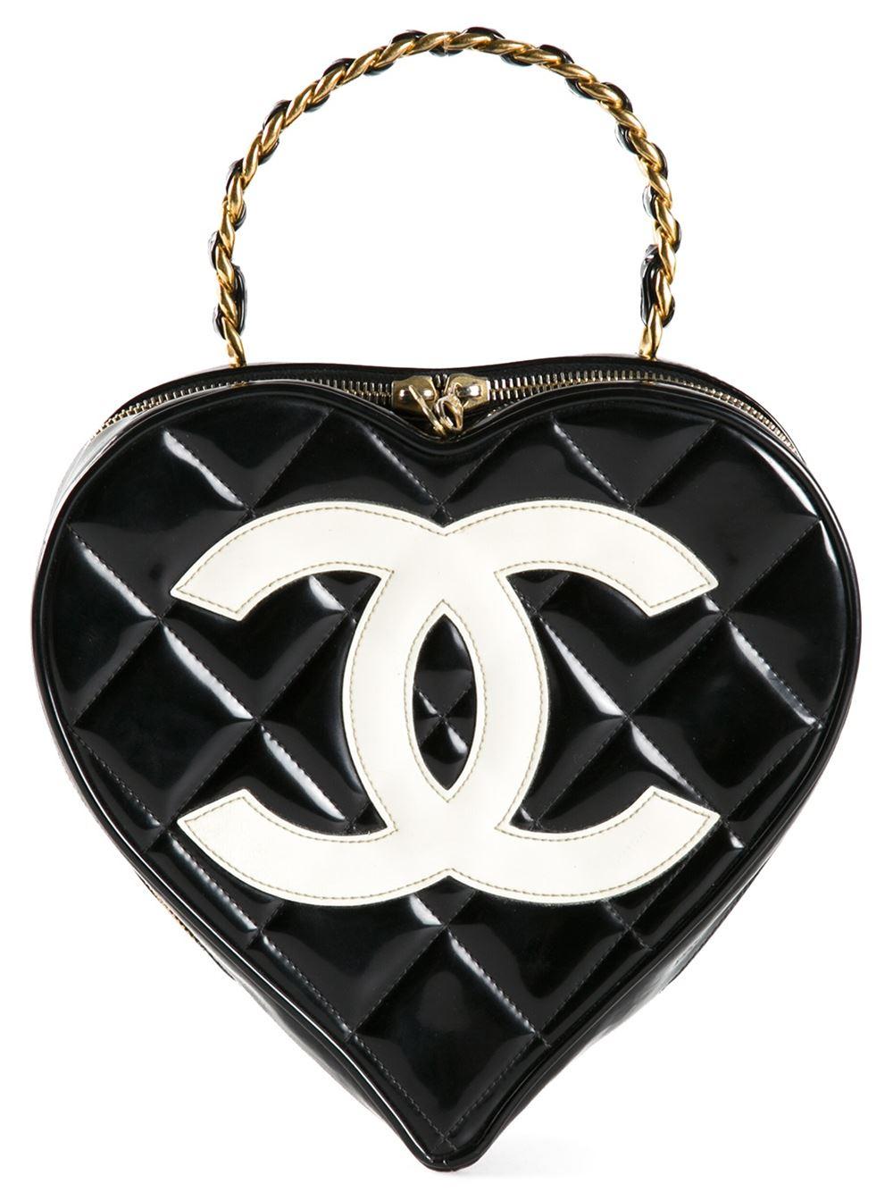 66768cbbc393 Splurge du Jour: Chanel Vintage Heart Shaped Tote - Handbag du Jour ...