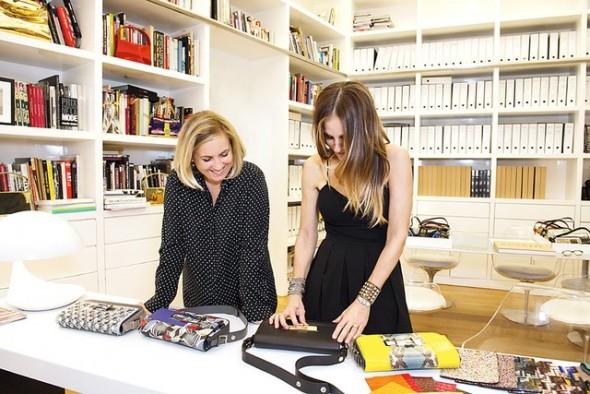 Sarah Jessica Parker desinging a Fendi purse